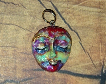 Super Cool and  Funky Face Pendant OOAK