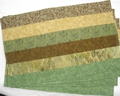 Earth Brown Yellow and Green Set of 4 Placemats