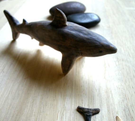 Stoneware Shark Sculpture