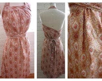 Vintage Cotton Wrap Around Sun Dress