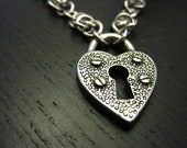 Lock Up Your Heart II steel necklace : chunky