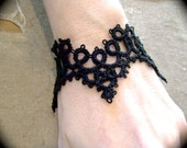 Tatted Lace Cuff Bracelet - Cathedral