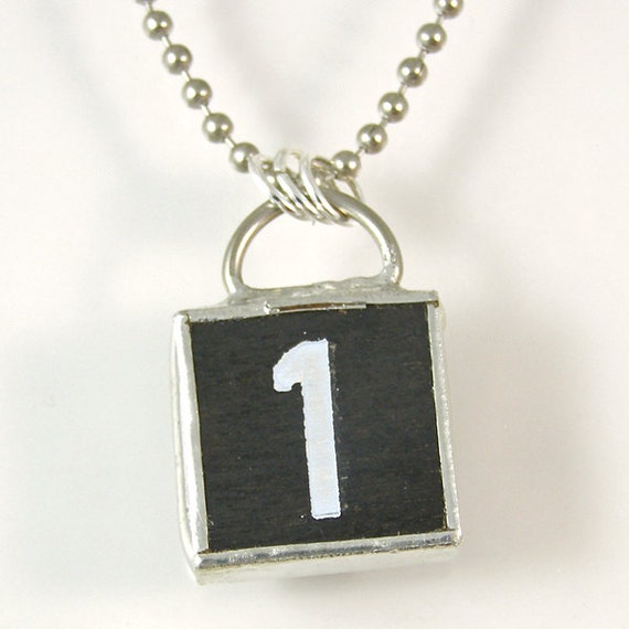 number 1 pendant necklace by xohandworks on etsy