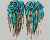 Sea Monster barrette style set of falls - CUSTOM MADE