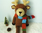 Amigurumi Pattern Knit Reindeer Pattern Digital Download