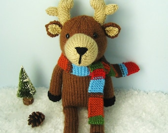 Amigurumi Knit Reindeer Pattern Digital Download