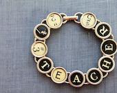 TYPEWRITER Key BRACELET Jewerly Made with Typewriter Keys TEACHER