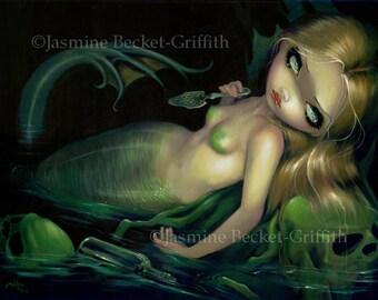 Absinthe Mermaid green wormwood fairy art print by Jasmine Becket-Griffith 8x10