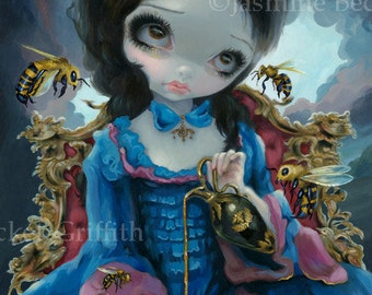 Queen of Bees rococo french princess honeybee fairy art print by Jasmine Becket-Griffith12x16 BIG