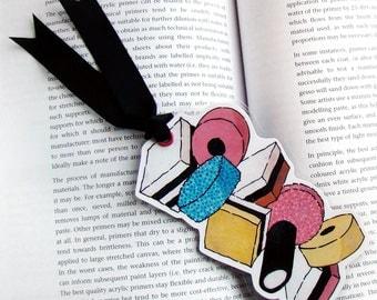 Art Bookmark - Allsorts - Glossy, laminated with ribbon