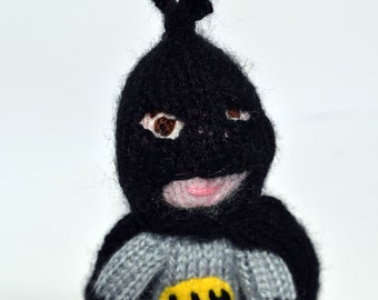 Batman style finger puppet