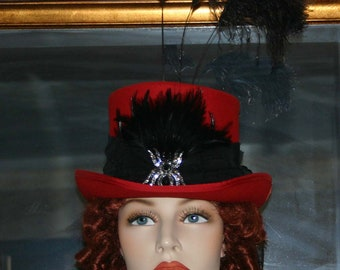 "Victorian Hat Steampunk Hat Gothic Hat Ascot Top Hat ""All Hallows Eve"""