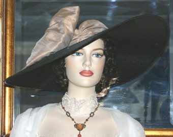 Kentucky Derby Hat Ascot Hat Titanic Hat - Latte Lady