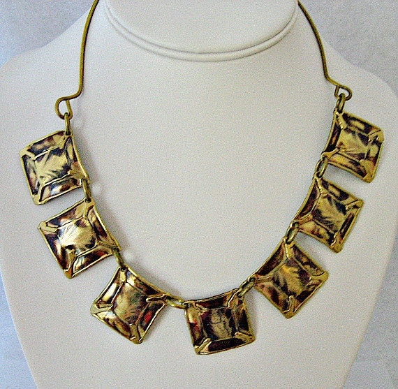 Cleopatra Style Vintage Necklace - 1970s Runway Jewelry