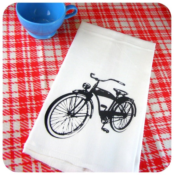 Retro Kitchen Linens: Retro Bicycle Kitchen Towels Bike Tea Towel CUTE Screen