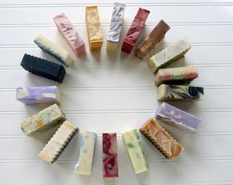 Soap Cold Process Set of 4 All Natural Handmade Vegan