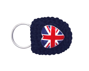 Keychain Coin Holder (W-KCN-110), British keychain, UK keychain, UK flag, men women teen accessory, keychain purse, keychain