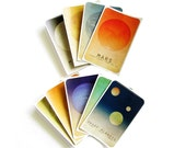 Solar System Art Stickers - Astronomy Art Planet Art, Outer Space, Universe Milky Way Galaxy Art, Geek Art, Nerd Art, School Art Educationa