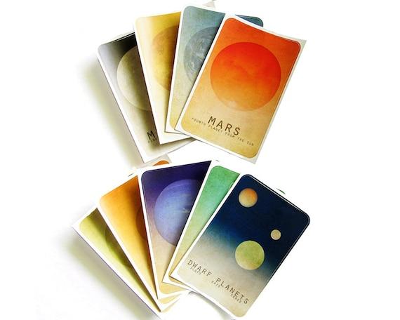 Solar System Art Stickers - Astronomy Art Planet Art, Outer Space, Universe Milky Way Galaxy Art, Geek Art, Nerd Art, School Art Educationa