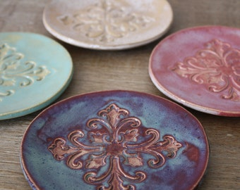 Handmade Stoneware Dishes Wedding Gifts Housewarming Gift Tapas Dishes Dessert Dishes Moroccan Dishes Appetizer Plates MADE TO ORDER
