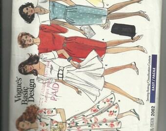 Vintage Vogue Misses' Dress Pattern 2062