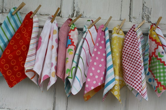 Upcycled Cloth Napkins-Looks Like Candy 3