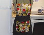 Full apron reversible w bib & Italian cooking theme