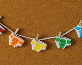 Rainbow Briefs - Miniature Crochet Underpants