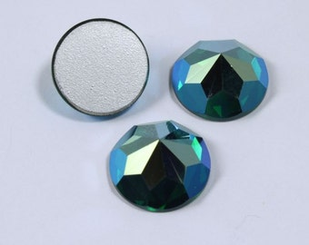 Vintage Swarovski Article 2020 14mm Emerald AB Rauten Rose #991