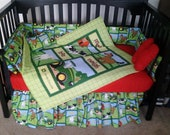 New 7 piece John Deere baby Crib Bedding Set w/ farm animals Custom Made to Order