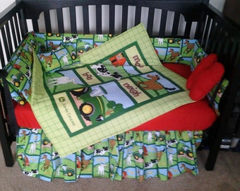 Farm Crib Bedding Etsy