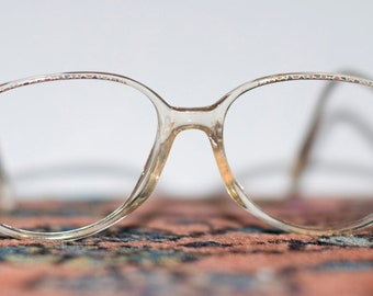 SALE Vintage Oval Womens Eyeglasses with Pattern