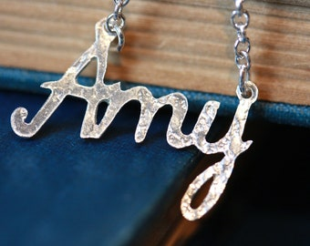 Handmade personalised silver name necklace (up to 4 letters)