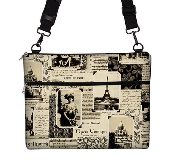 Macbook Air 13 inch Laptop Bag MacBook Case Sleeve Cover Mac Laptop Messenger Bag with Strap  - April in Paris Eiffel Tower RTS