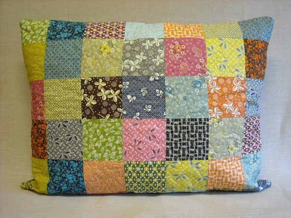 Patchwork  Quilt Pillow Sham - Standard Bed Pillow Sham