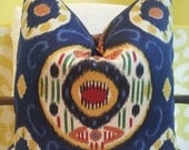 "18"" - 22"" Duralee JuHani Handmade Pillow Cover Navy Suzani Tribal - FLairworks"
