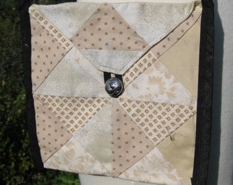 Ivory Cotton Patchwork Purse