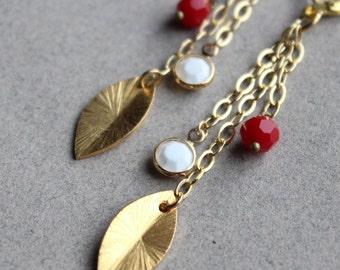 CLEARANCE - Gold Leaf Earrings