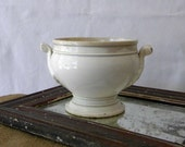French antique white porcelain pot cottage chic decor