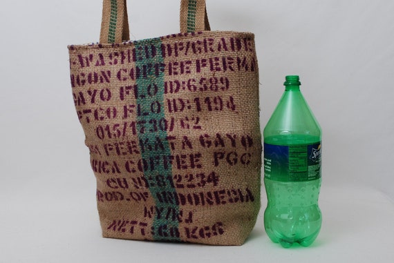 Recycled Burlap Tote Made From A Coffee Bean Sack