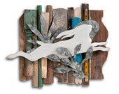 Wild Hare Rescued Wood Assemblage