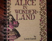 Alice In Wonderland Reclaimed Journal