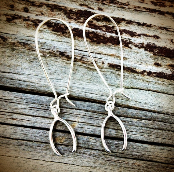 Lucky Wishbone Earrings