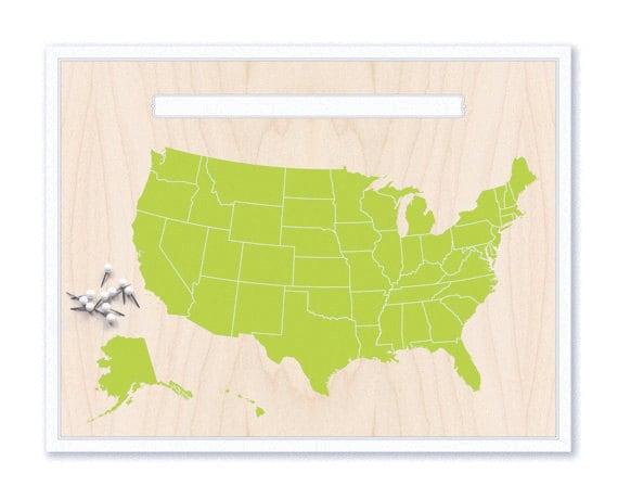 description cute green us map
