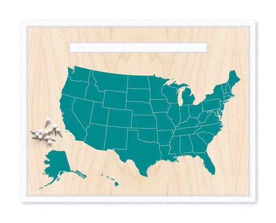 USA Map Pin Set Push Pin Travel Map World Map - Cute map of us