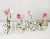 Glass Bud Vase - Baby's Breath Collection - ready to ship