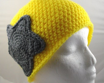 Jammer Hat in Yellow and Gray (medium) (SWG-HBEN-M01)
