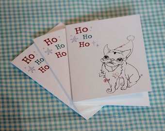 SET of  3 Holiday Greeting Cards (Your Choice)