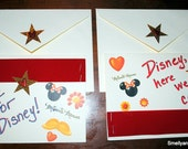 Travel Cards for Girls Going To Disney World, Land, Cruise, Etc., with Minnie Mouse