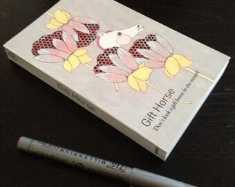 Blank Book Journal Sketchbook - Gift Horse